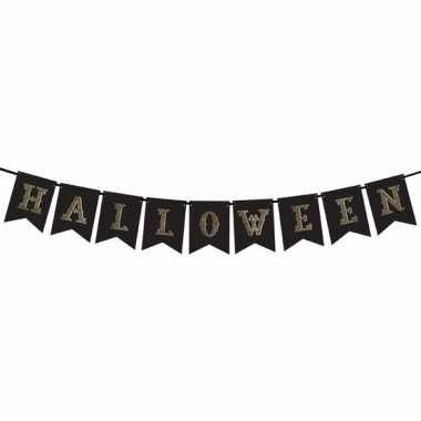 Halloween feest/party banner letterslinger versiering karton 175 cm
