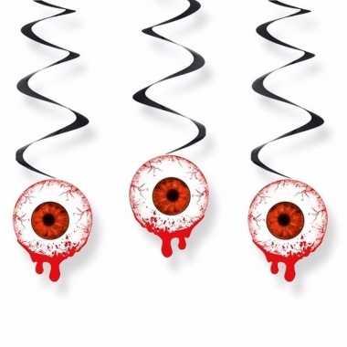 Halloween hangslingers oogbollen 60 cm