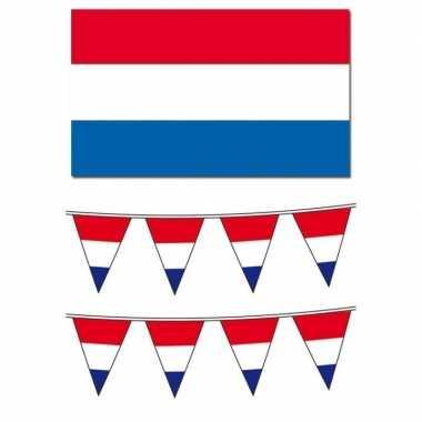 Hollandse vlaggen/vlaggenlijnen pakket