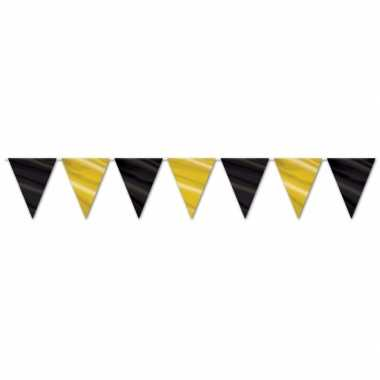 Hollywood vlaggenlijn zwart/goud
