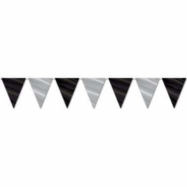 Hollywood vlaggenlijn zwart/zilver