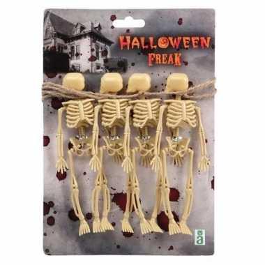 Horror skelet slinger 150 cm