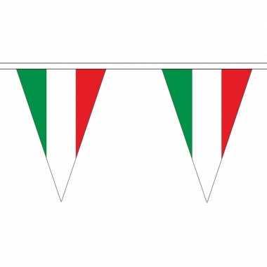 Italiaanse vlaggenlijn van stof 5 m