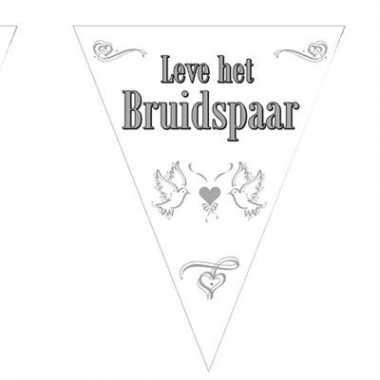 Leve het bruidspaar vlaggenlijn