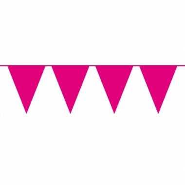 Magenta roze vlaggenlijn groot 10 meter