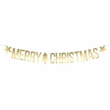 Merry christmas kerst feest party banner letterslinger versiering karton 175 cm