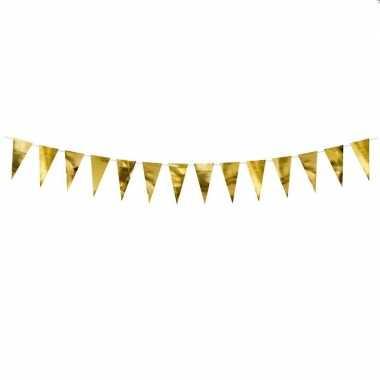 Metallic gouden vlaggenlijn 2 meter
