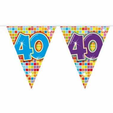 Mini vlaggetjeslijn 40 jaar 3 meter