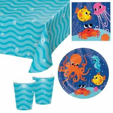 Oceaan print feestje versiering pakket 9-16 personen