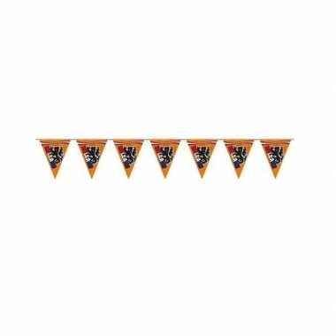 Oranje leeuw vlaggenlijntjes 6 m