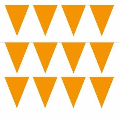 Pakket van 15x stuks oranje vlaggenlijnen 5 meter