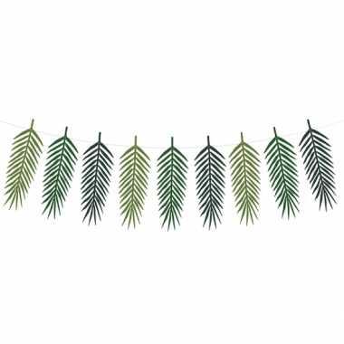 Palmboom bladeren vlaggenlijn