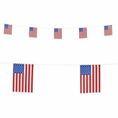 Papieren vlaggenlijn Amerika 6 m