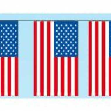 Papieren vlaggenlijn Amerika