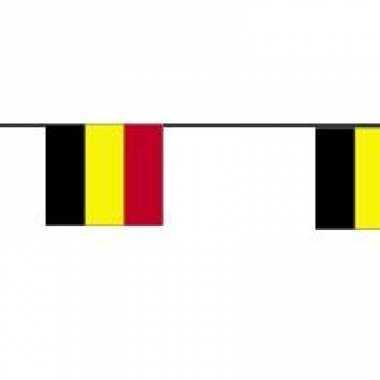 Papieren vlaggenlijn Belgie