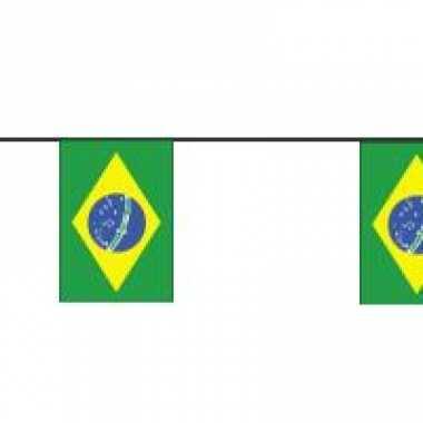 Papieren vlaggenlijn Brazilie