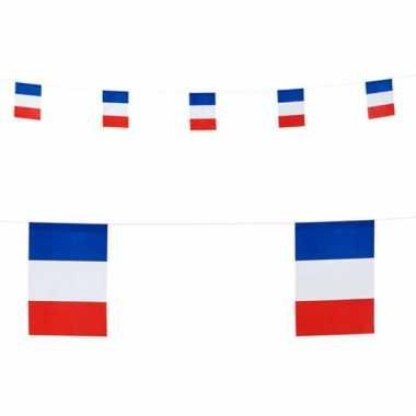 Papieren vlaggenlijn frankrijk 6 m