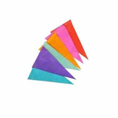 Papieren vlaggenlijn gekleurd 10 m