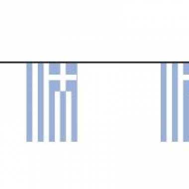 Papieren vlaggenlijn griekenland
