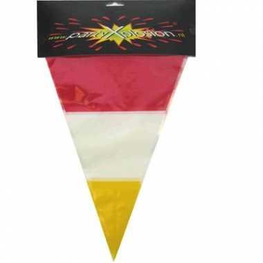 Plastic vlaggenlijn 3 kleurig