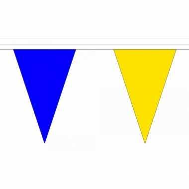 Polyester vlaggenlijn blauw met geel