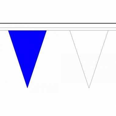 Polyester vlaggenlijn blauw met wit