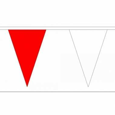 Polyester vlaggenlijn rood met wit