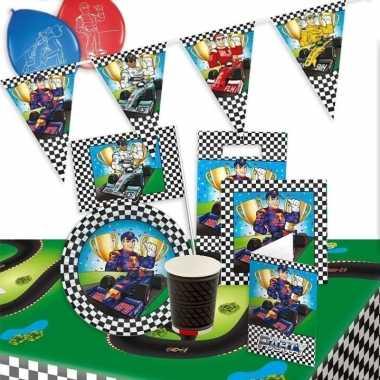 Race/formule 1 feestpakket tafeldecoratie/versiering 8 personen