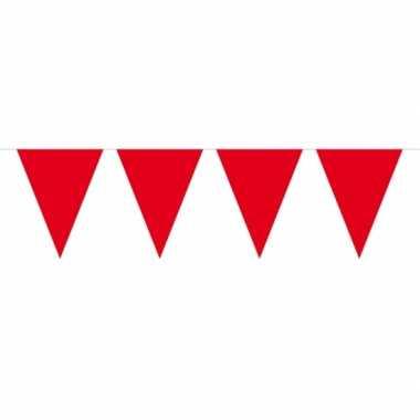 Rode vlaggenlijn groot 10 meter