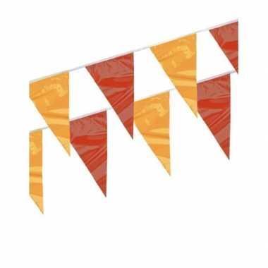 Rood/geel vlaggenlijnen 4 meter