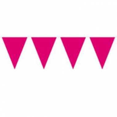 Roze vlaggenlijn 10 meter