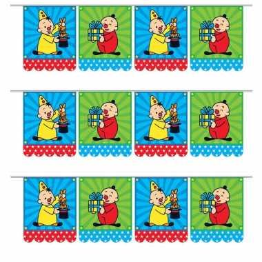 Set van 3x stuks kinderfeestje vlaggenlijn van bumba 6 meter