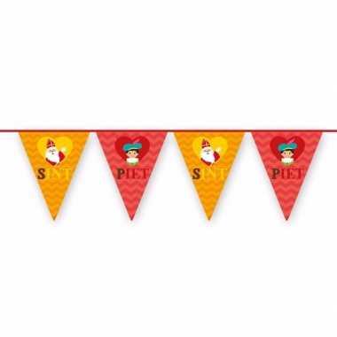 Sinterklaas vlaggenslinger rood/oranje