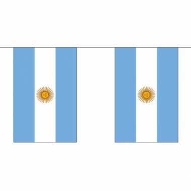 Stoffen vlaggenlijn argentinie 3 meter