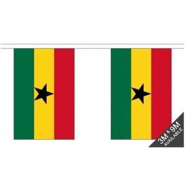 Stoffen vlaggenlijn ghana 3 meter