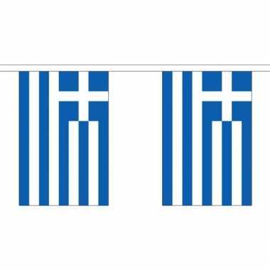 Stoffen vlaggenlijn griekenland 3 meter