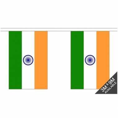 Stoffen vlaggenlijn india 3 meter