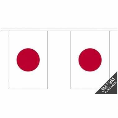 Stoffen vlaggenlijn japan 3 meter