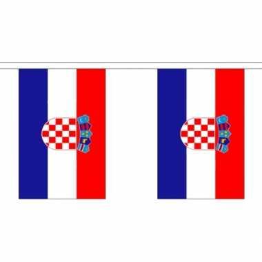 Stoffen vlaggenlijn kroatie 3 meter