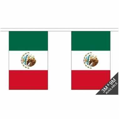 Stoffen vlaggenlijn mexico 3 meter