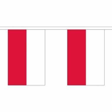 Stoffen vlaggenlijn Polen 3 meter