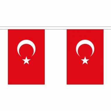 Stoffen vlaggenlijn turkije 3 meter