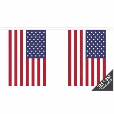 Stoffen vlaggenlijn usa 3 meter