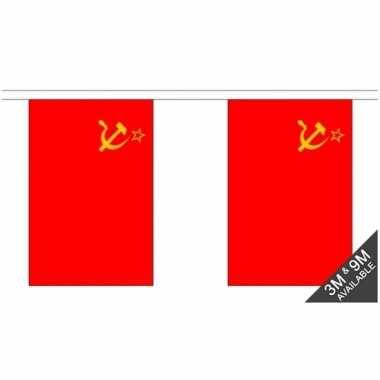 Stoffen vlaggenlijn ussr 3 meter