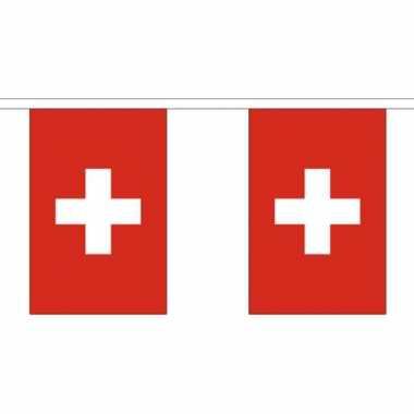 Stoffen vlaggenlijn Zwitserland 3 meter