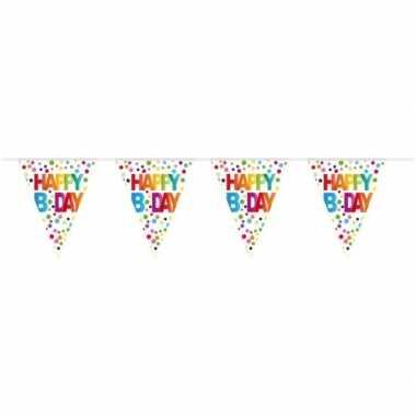 Verjaardag vlaggenlijn b-day/happy birthday 10 meter