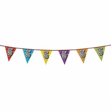 Vlaggenlijn 5 jaar feestje