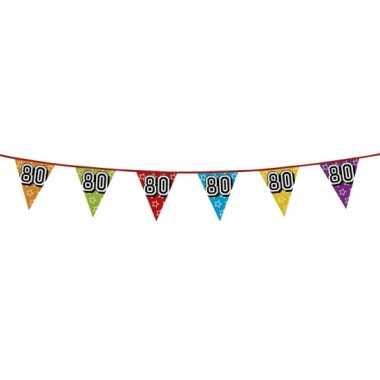 Vlaggenlijn 80 jaar feestje