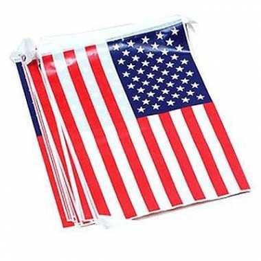 Vlaggenlijn met Amerikaanse vlag