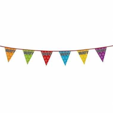 Vlaggenlijn thema party 8 meter
